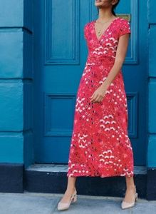 Boden Pop Peony Meadow Jersey Maxi Dress